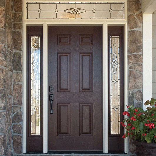 Pella 6 Panel Entry Door Solid Panel